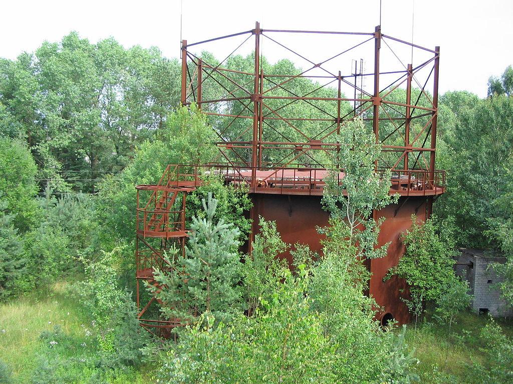 Метантенк на недостроенных очистных сооружениях в Калининграде